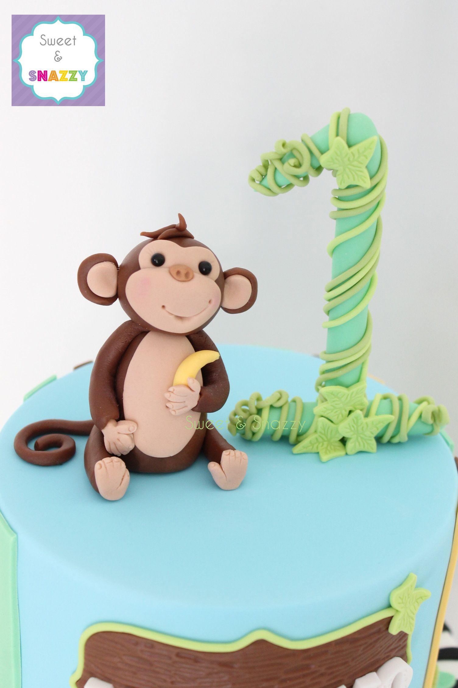 Monkey Cake Topper Fondant Monkey By Sweet Amp Snazzy