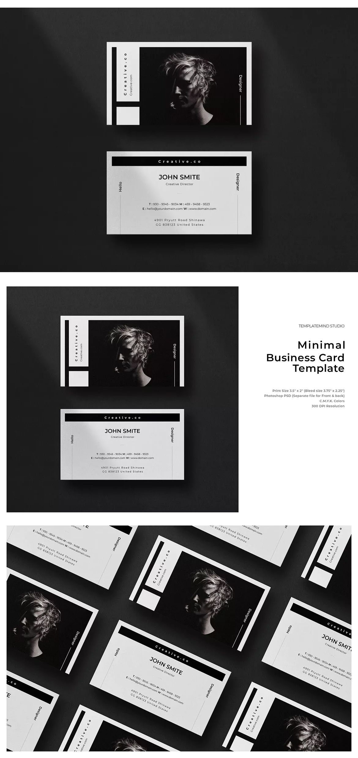 Minimal Business Card Vol 15 By Justicon On Envato Elements Business Card Template Psd Minimal Business Card Business Card Template