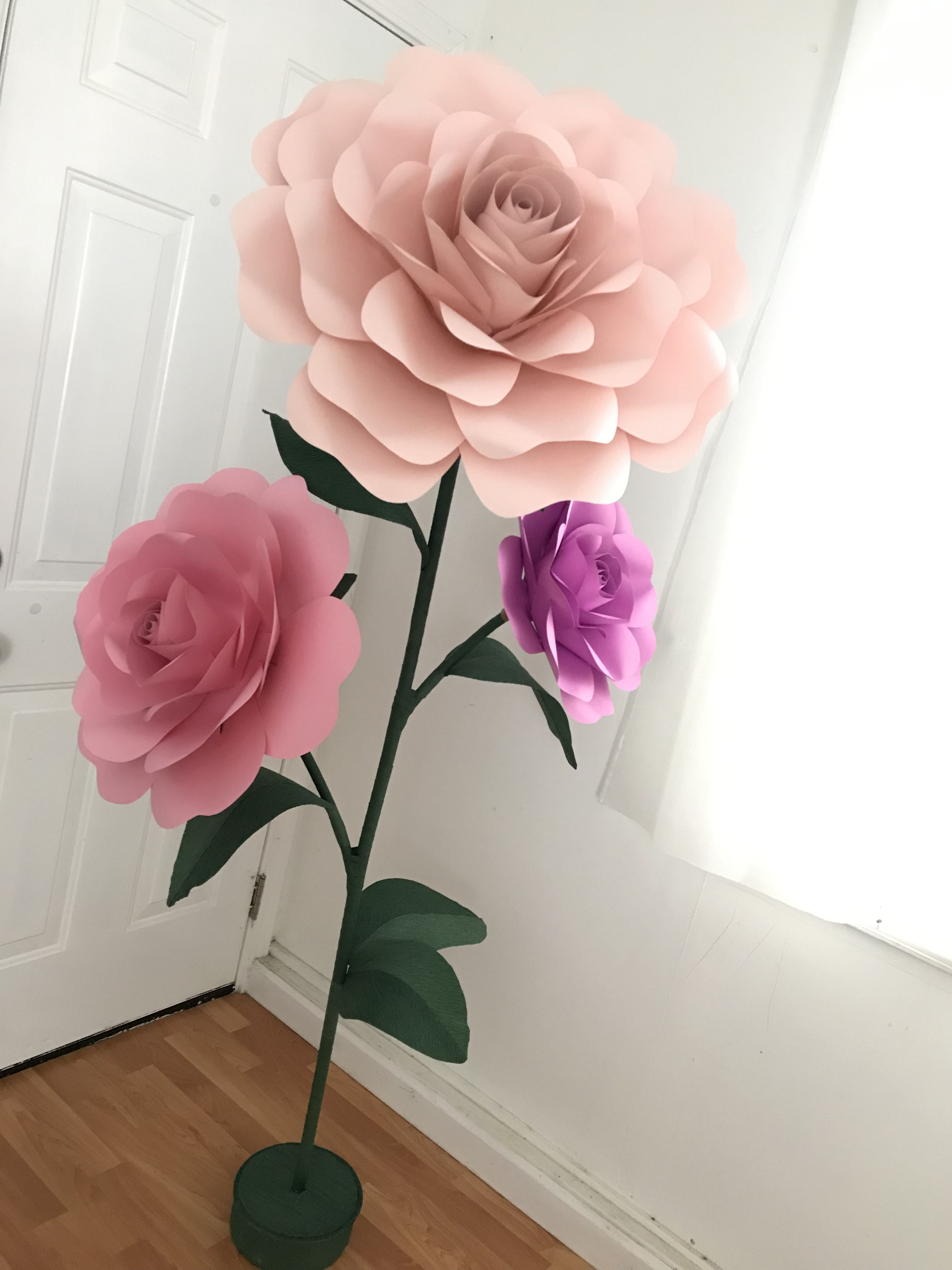 Free Standing Giant Flower Stand Tutorial Large Flower Stems Self