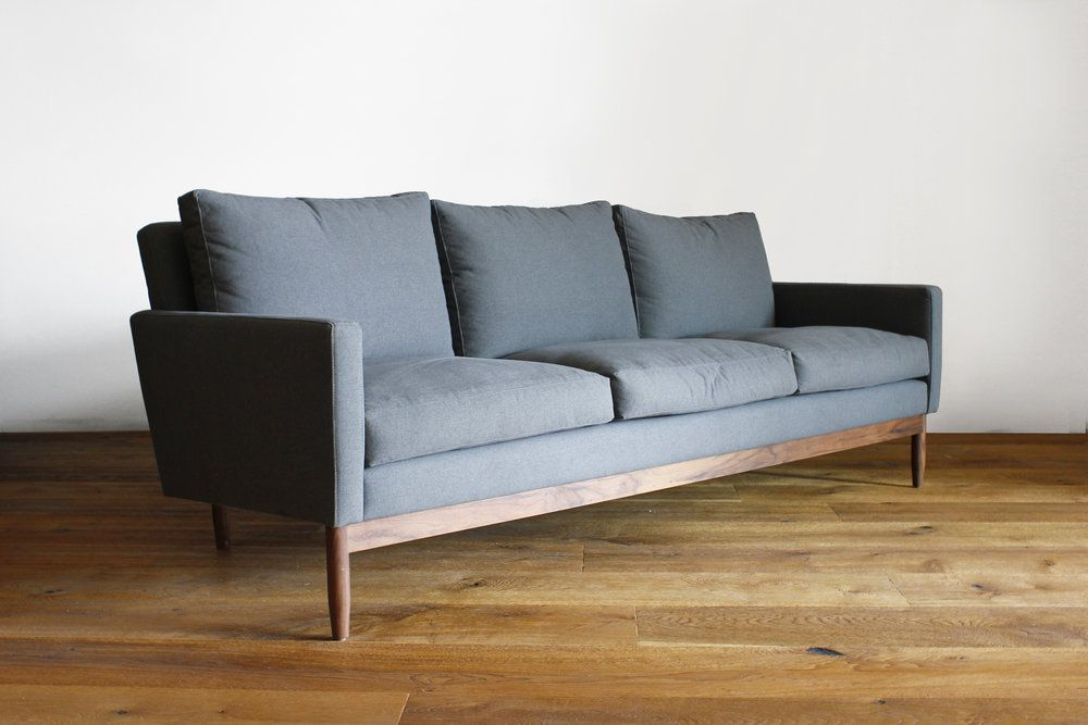 Couch Seattle - The Durham; made in Los Angeles, exposed walnut ...