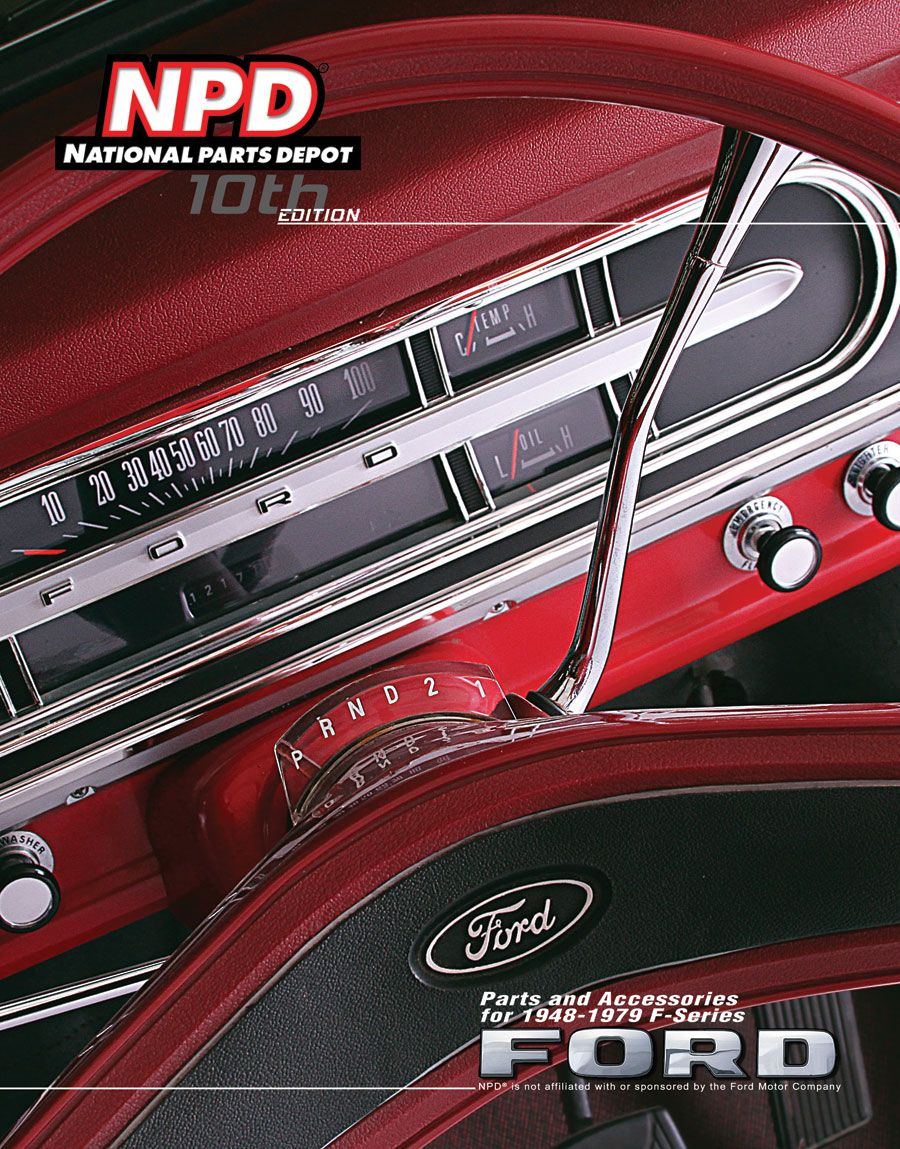 10th edition of national parts depot 1948 79 ford truck catalog see our 1948