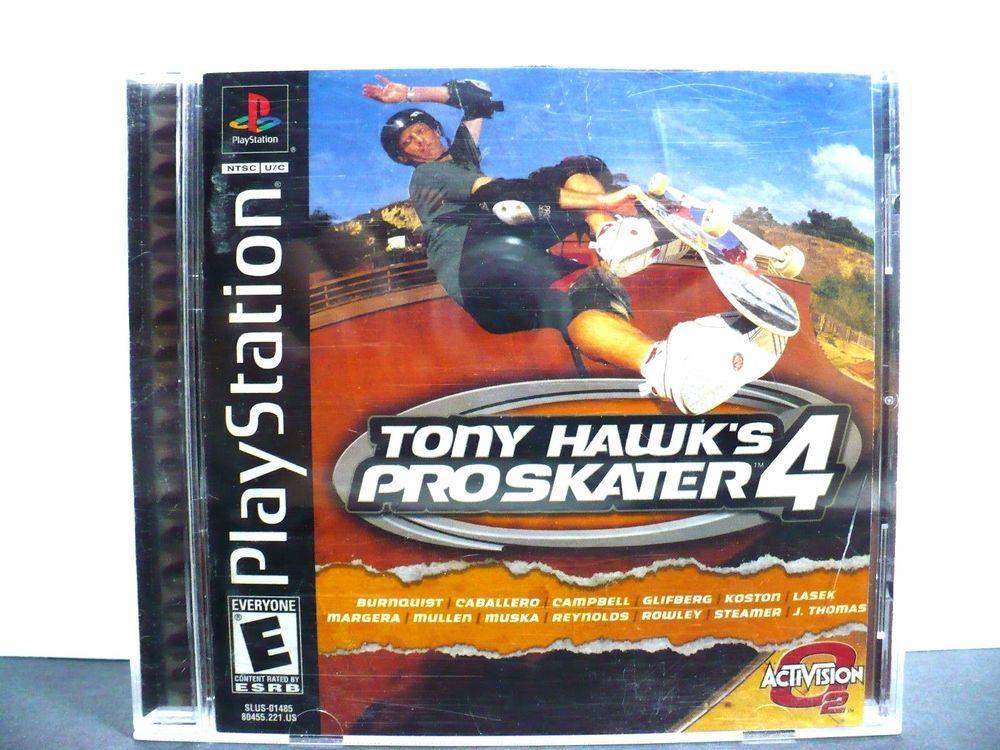 Tony Hawk's Pro Skater 4 (Sony PlayStation 1, 2002) Black