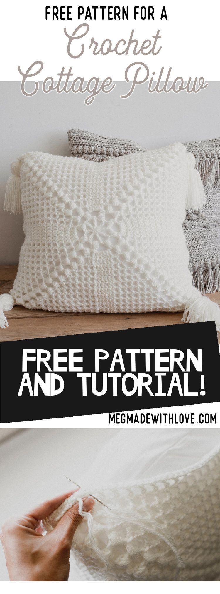 Free Pattern for the Crochet Cottage Pillow   Crafty   Pinterest ...