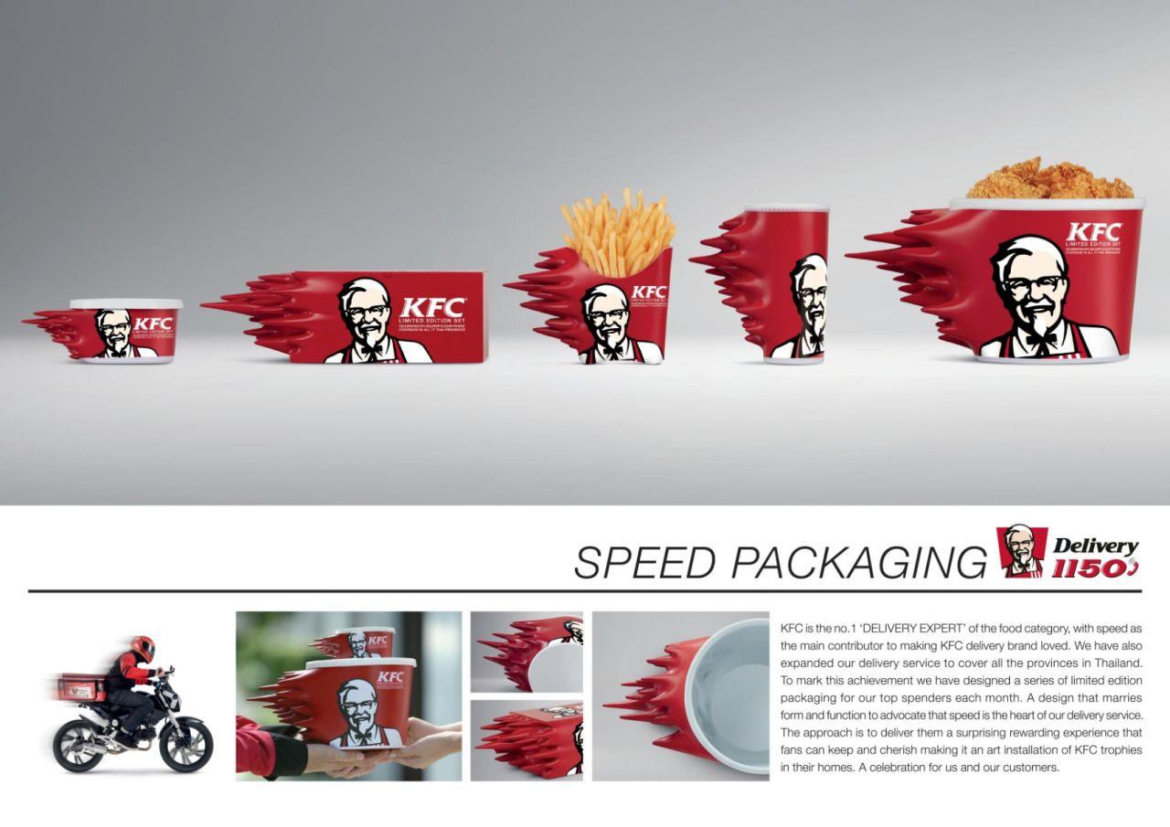KFC cria embalagem speed