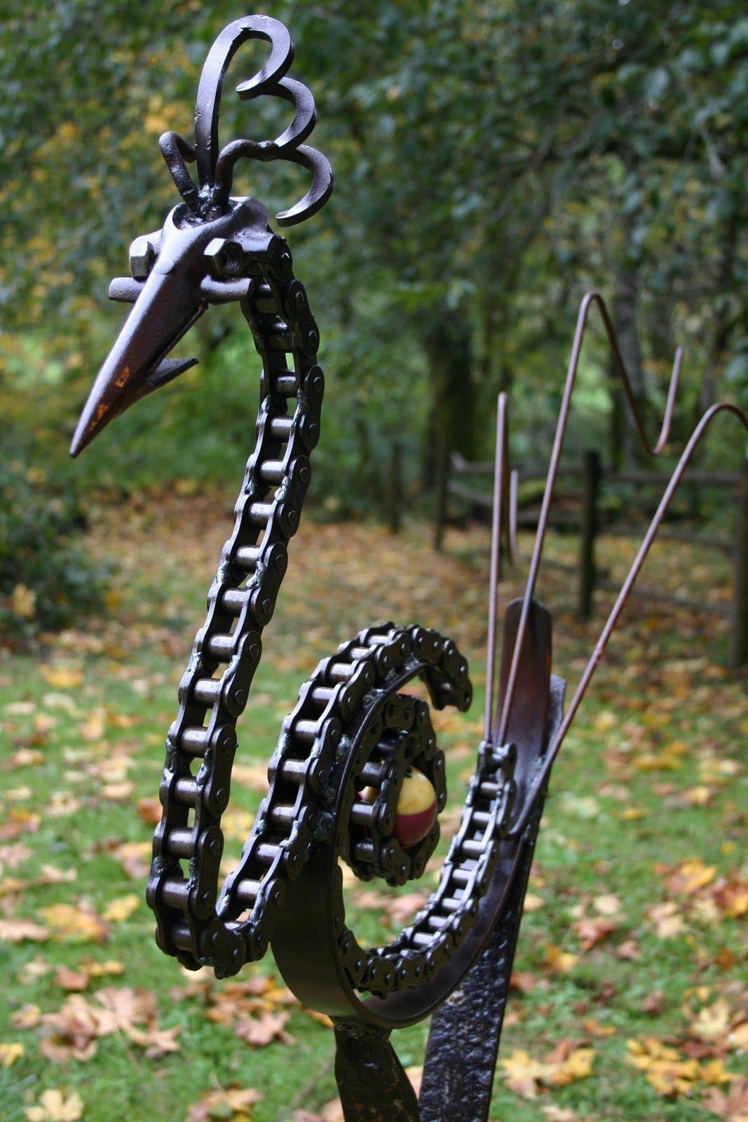 Welding Chain Art Weldingart Sculpture Animaux Soudure Artistique Art Des Jardins