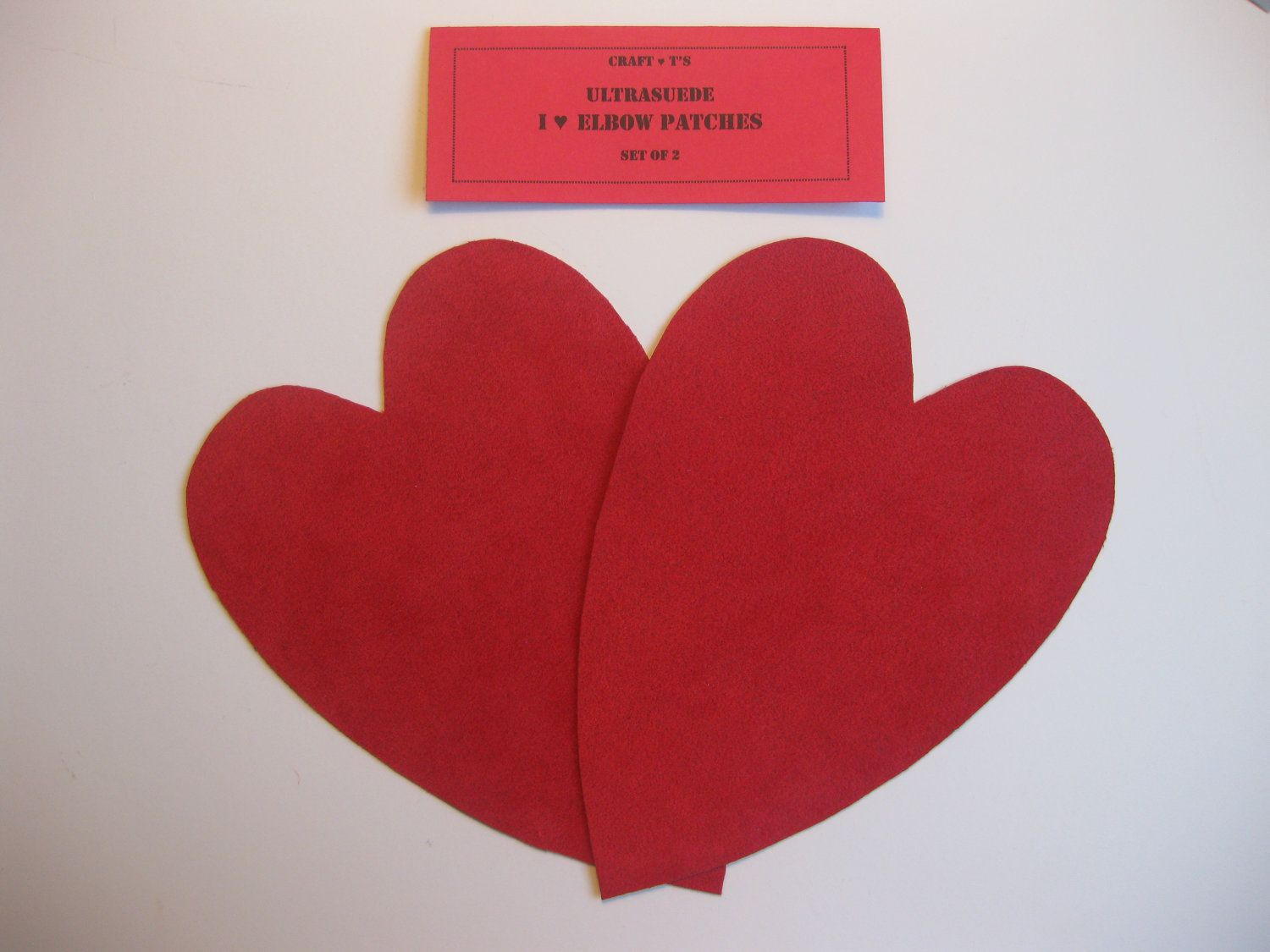 Elbow Patches - Red Heart Ultrasuede - Set of 2. $6.00, via Etsy.