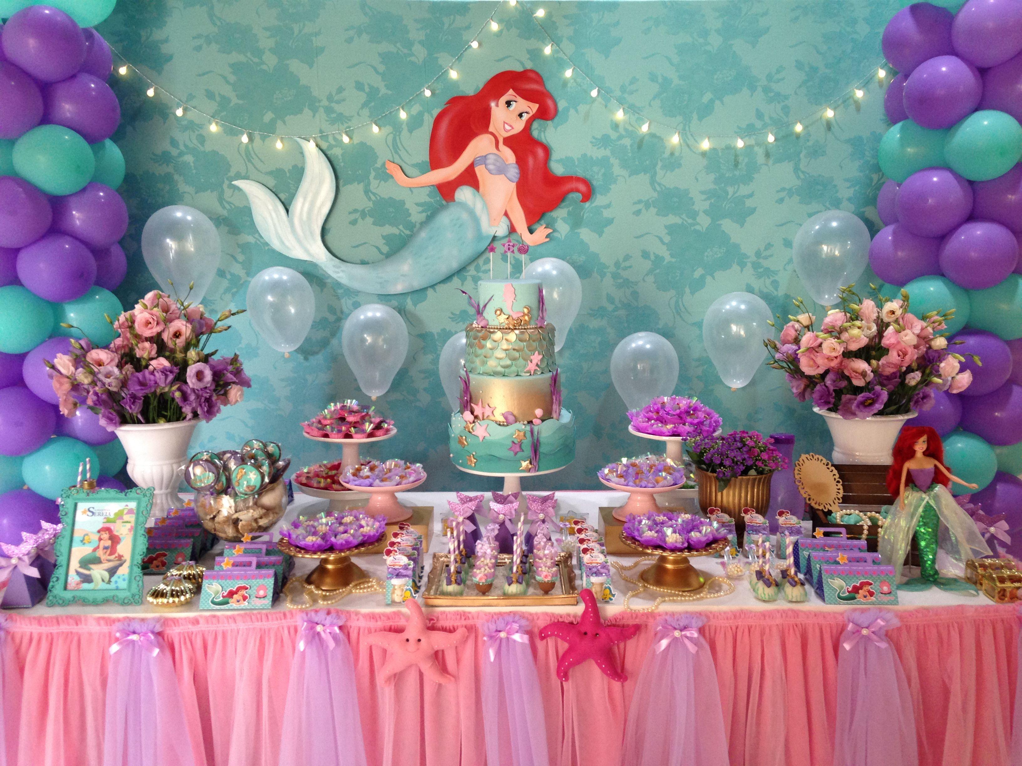 Festa ariel da minha princesa tematica ariel en - Fiestas de cumpleanos de princesas ...