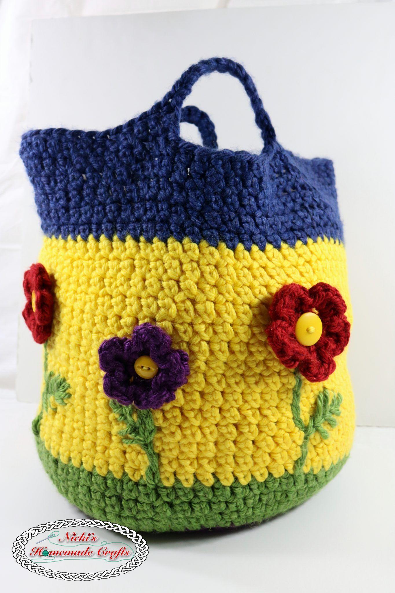 Flower Basket Pattern Free Crochet Pattern Flower Basket Flower