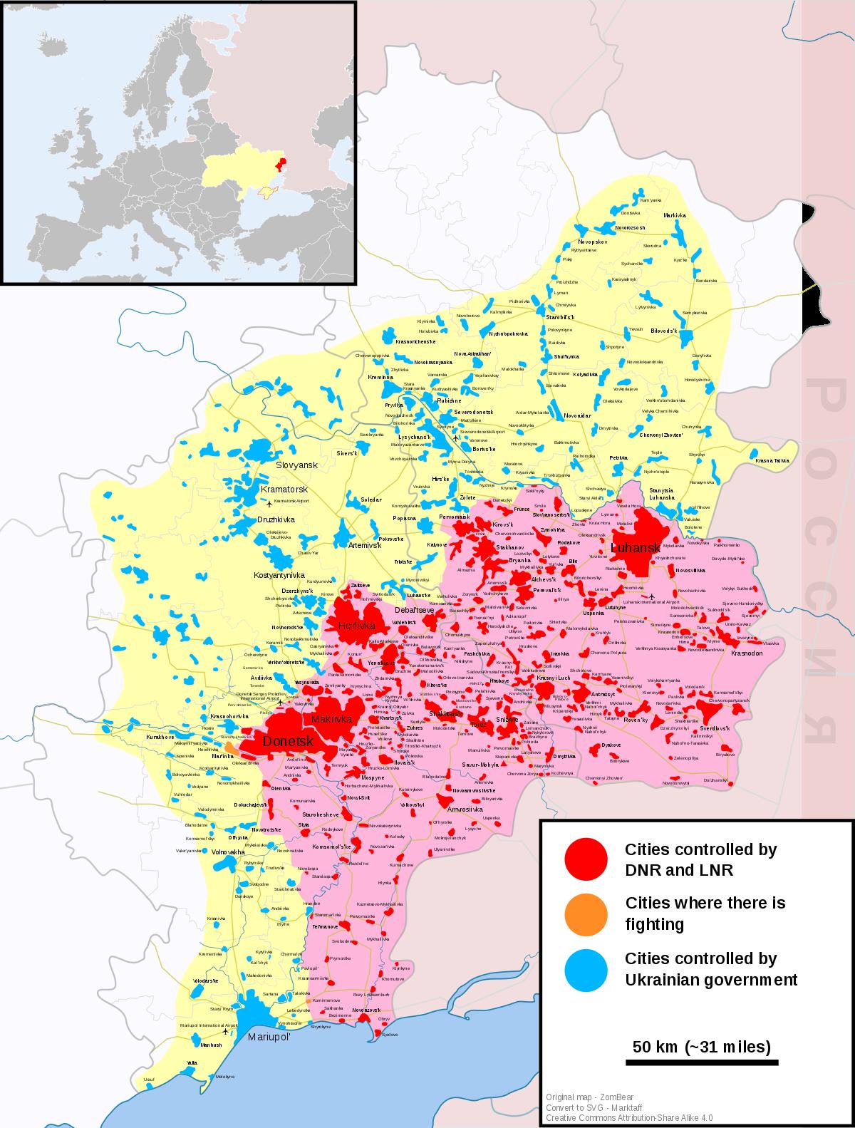 Maps Of Ukraine Conflict