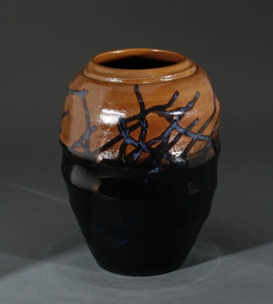 Robert turner american studio pottery vase mid century abstract expressionist sold