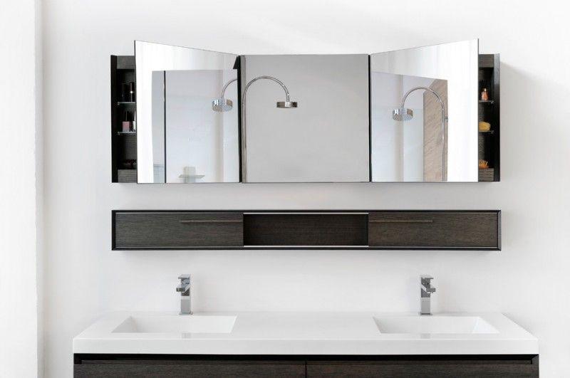 Long Bathroom Mirror With Storage - Google Search | Modern ...