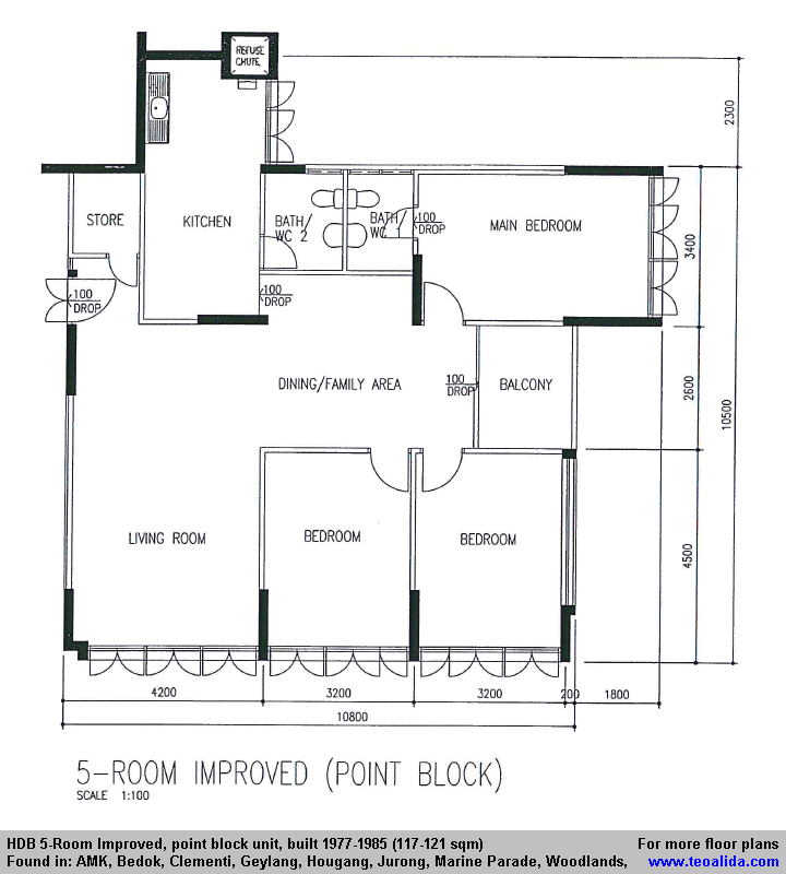 Hdb 5 Room Improved Flat 121 Sqm In 2020 Floor Plans Yishun Utility Rooms
