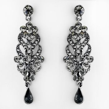 Black crystal chandelier earrings for weddings and prom affordable black crystal chandelier earrings for weddings and prom affordable elegance bridal mozeypictures Image collections