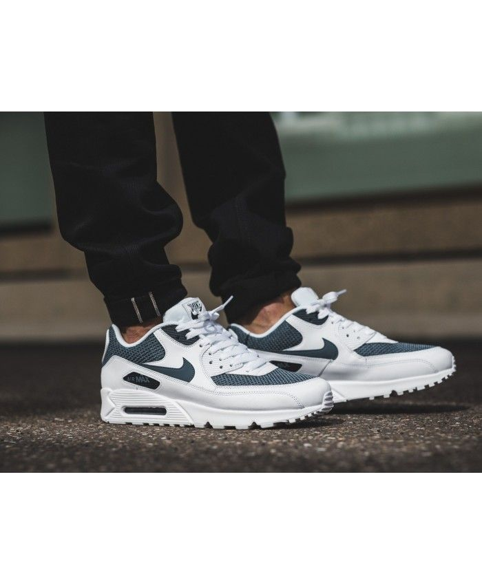 big sale 993bc 3785f Nike Air Max 90 Essential White Armory Blue Trainers Black Friday Cheap Sale