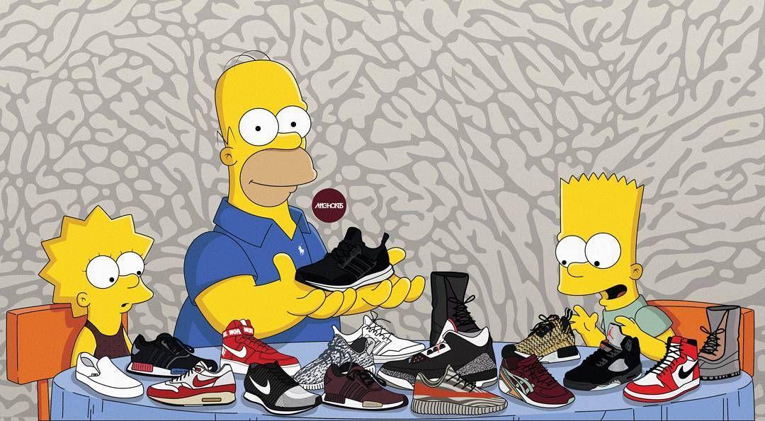 Pinterest ADC Swag cartoon, Simpsons art