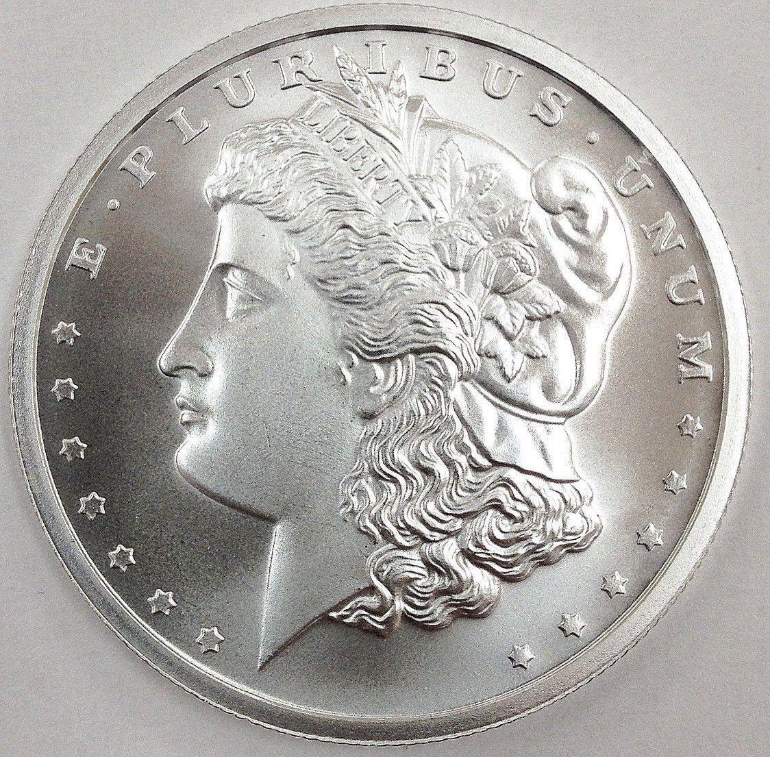 Roll Of 20 1 Oz Morgan Design Round 999 Fine Silver Fine Silver Silver Silver Coins