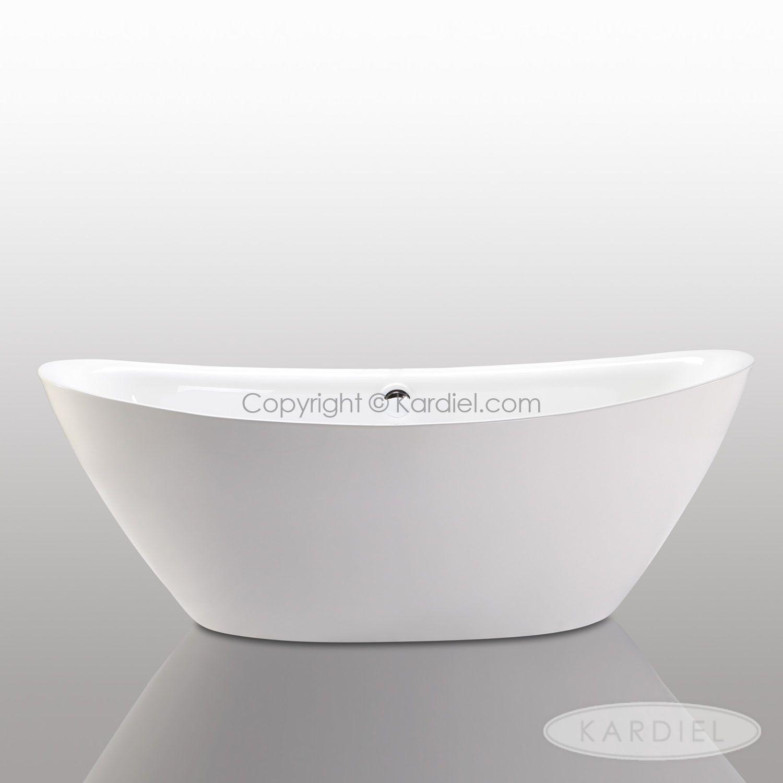 HelixBath Tholos Freestanding Acrylic Bathtub 71″ White w/ Round Overflow + Free Faucet |