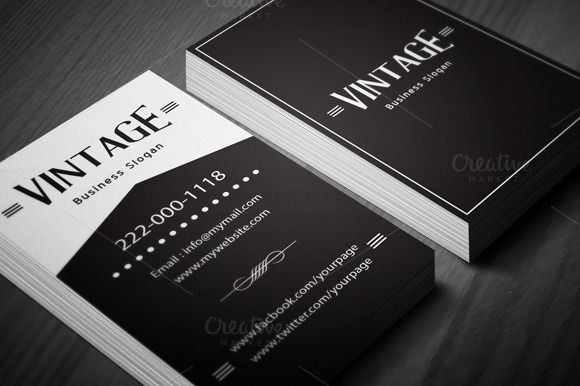Vintage Business Card Template | Card templates