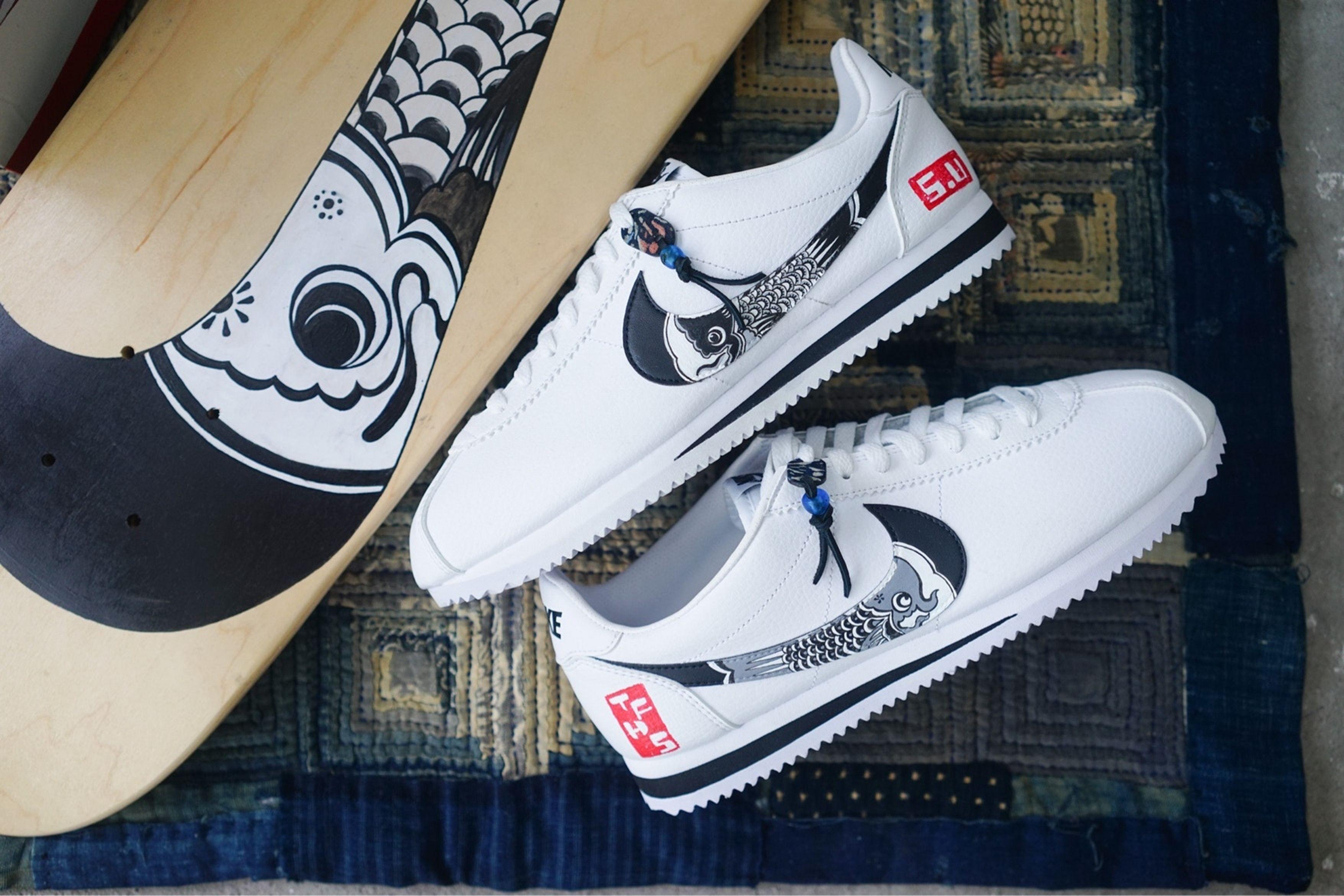 "cheaper d4f01 262d3 Custom Nike Cortez ""Koinobori"" - EU Kicks  Sneaker Magazine"