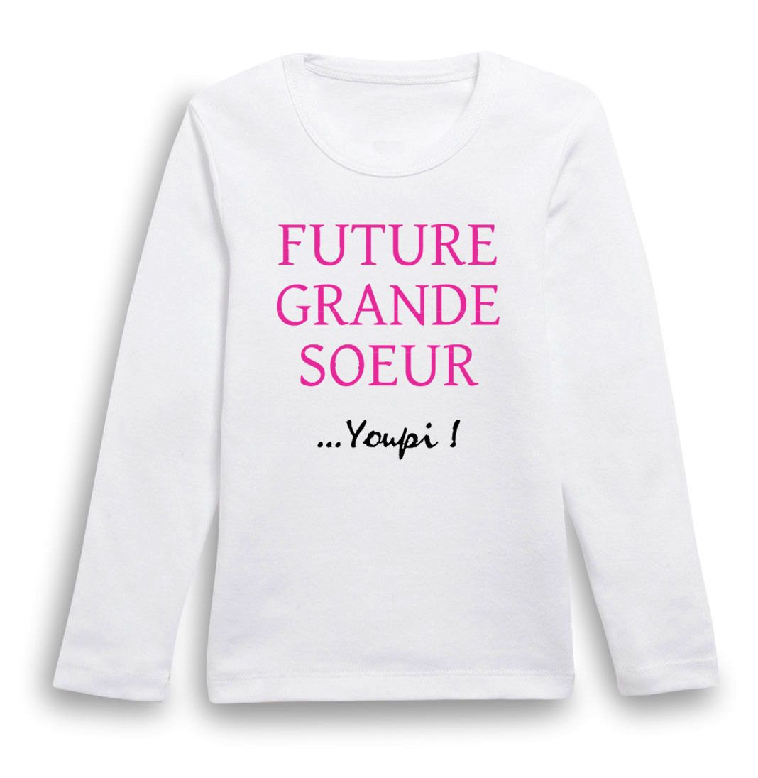 T Shirt Manches Longues Future Grande Sœur Mode Filles Par
