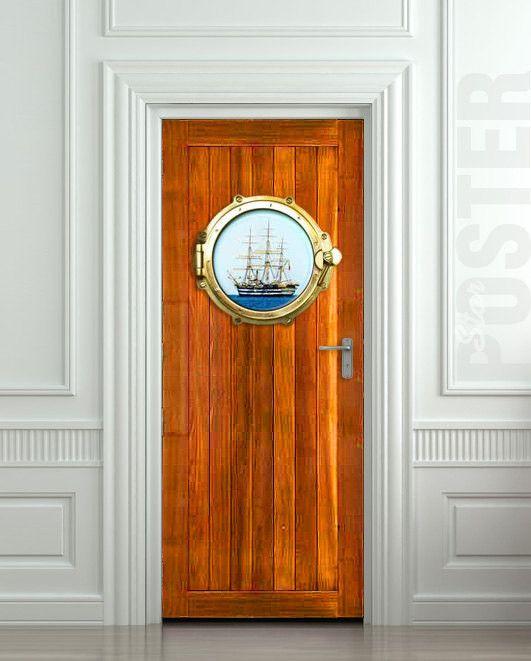 Door Sticker Illuminator Porthole Window Sea Mural Decal Self Adhesive Poster Cover Wrap Cling All Door Sizes Door Stickers Sea Murals Door Wall