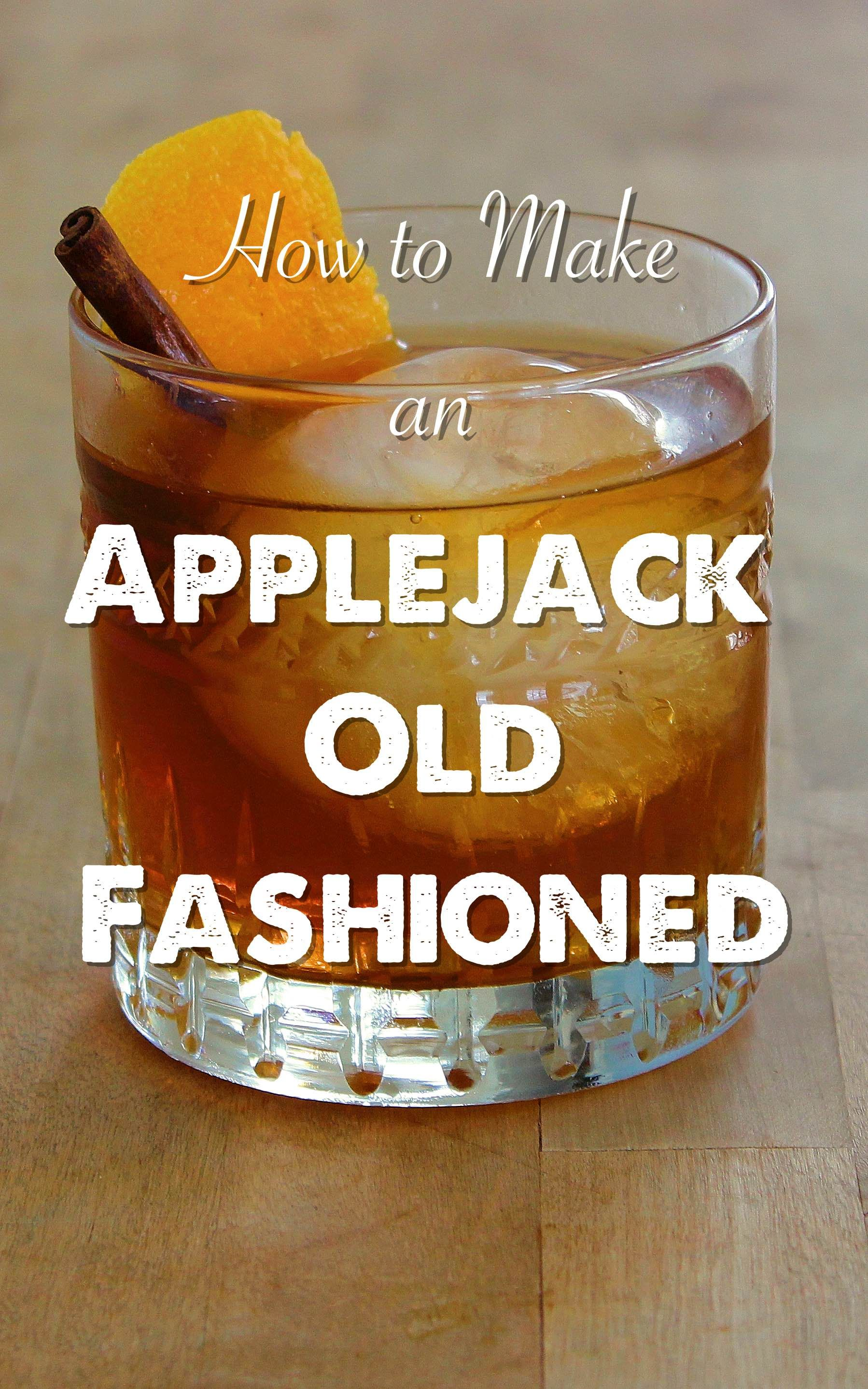 A recipe for an autumn-themed Old Fashioned with apple ...