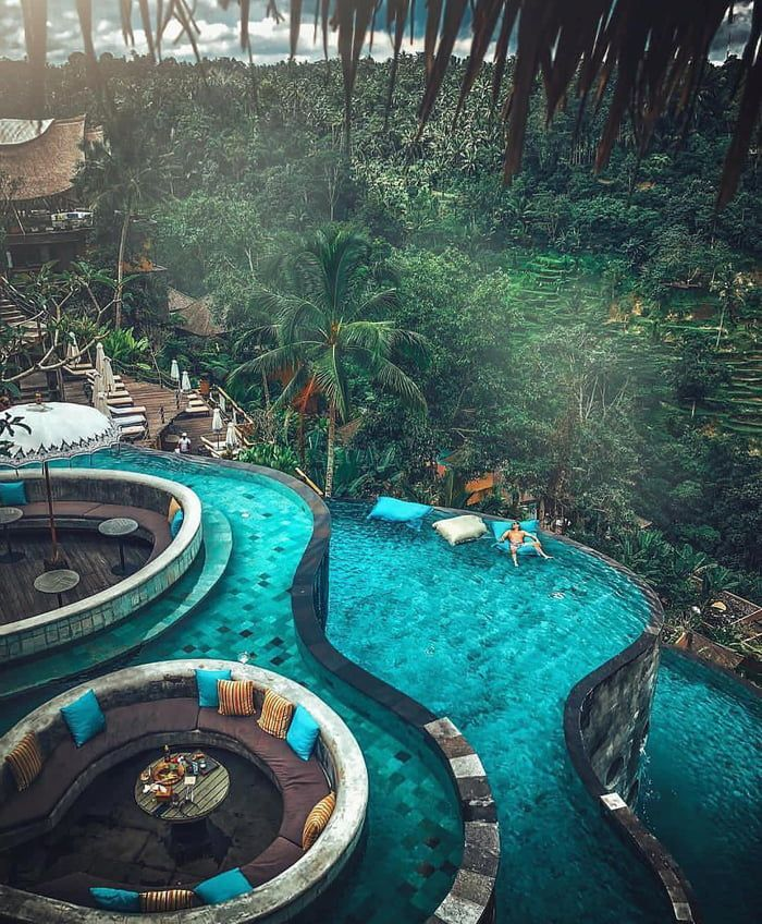 The Kayon Jungle resort in Bali, Indonesia.
