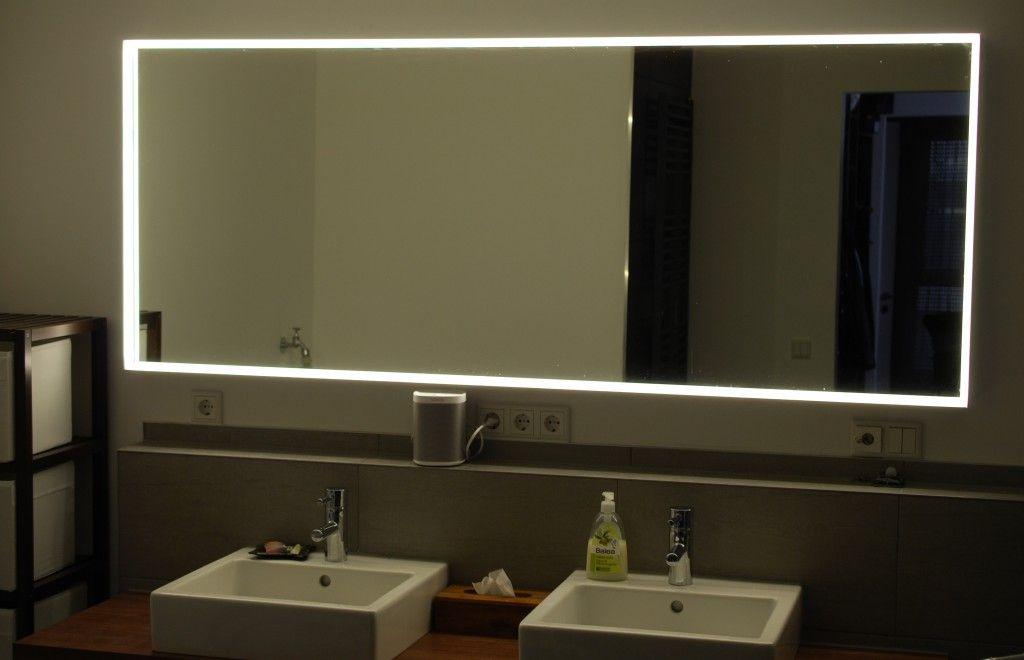 Spiegel mit LED Beleuchtung (etwas gedimmt, kein Tageslicht) Bad - badezimmer spiegel beleuchtung