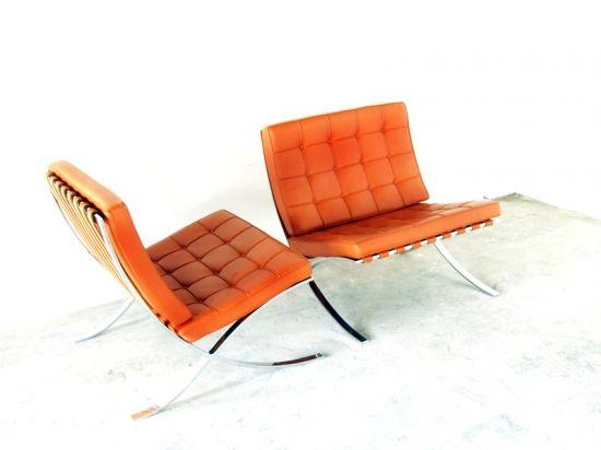 Barcelona Chair In Orange