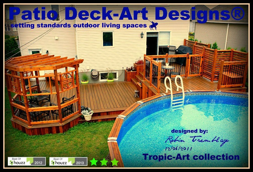 Patio piscine hors terre patio deck art designs for Piscine hors terre design