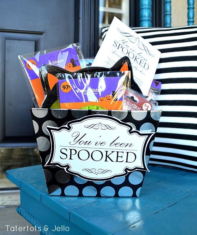 You've Been Spooked: FREE Neighbor Printable Gift Idea #spookybasketideas