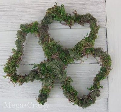 Photo of Shamrock Grapevine Wreath- making custom shaped wreaths.