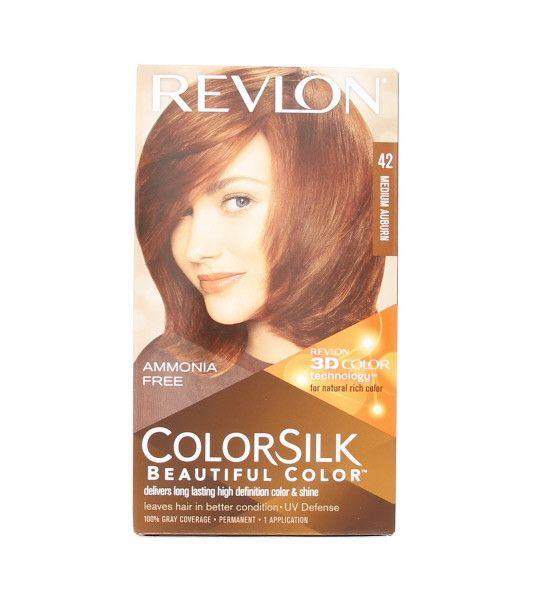 Colorsilk 42 Medium Auburn Hair Color Products Pinterest