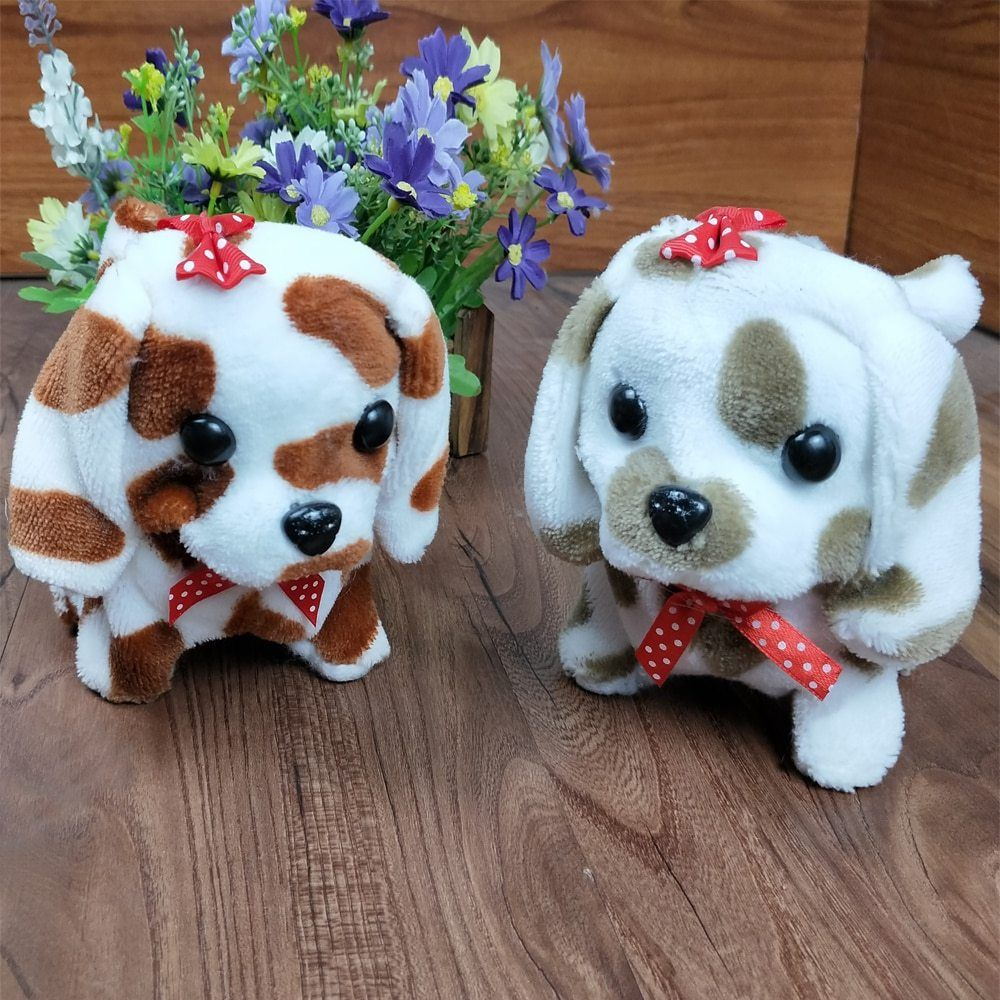 Cute Walking Barking Toy Funny Electric Short Floss Electric