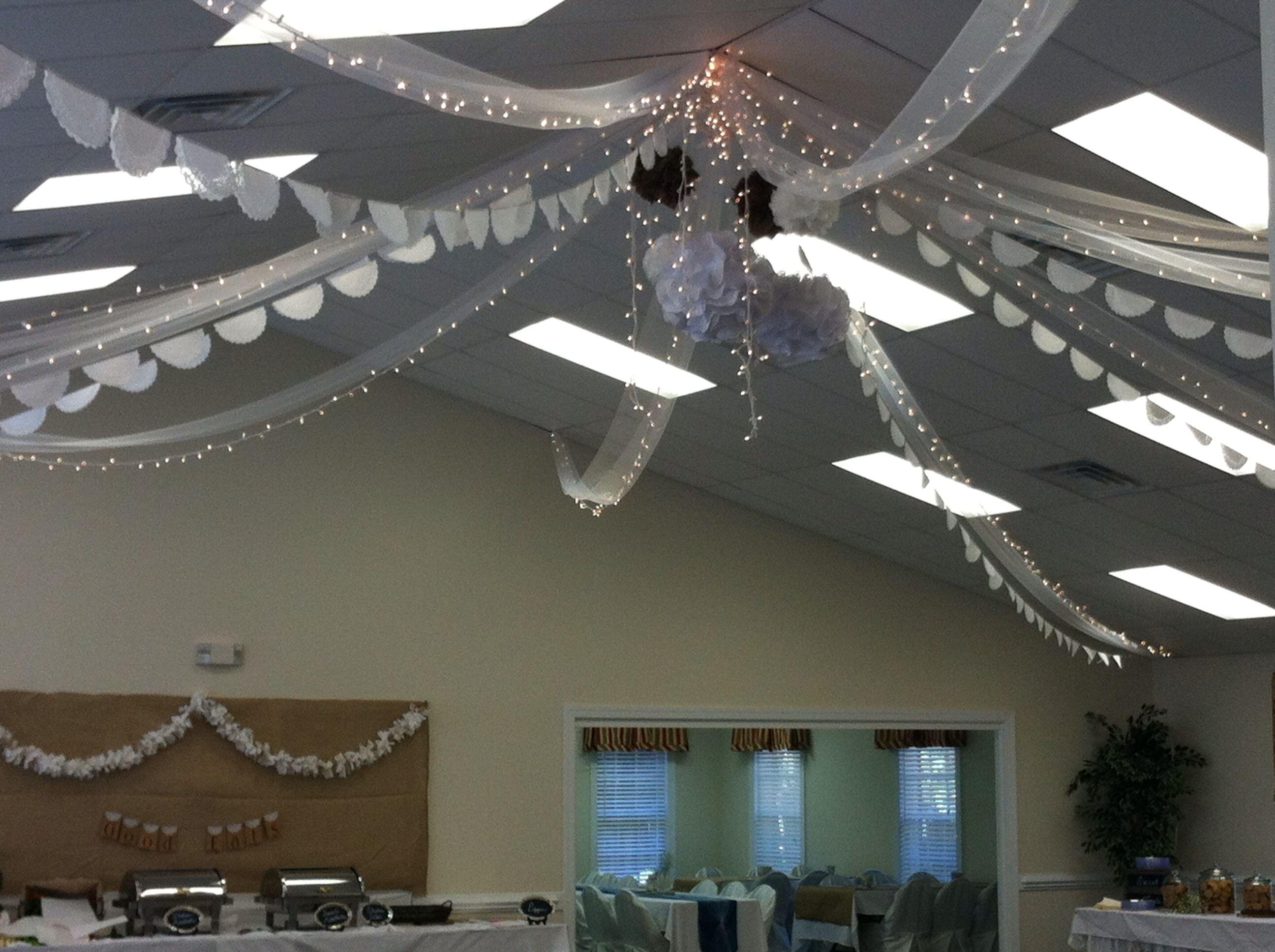 Diy rustic wedding reception ceiling sus wedding reception pinterest