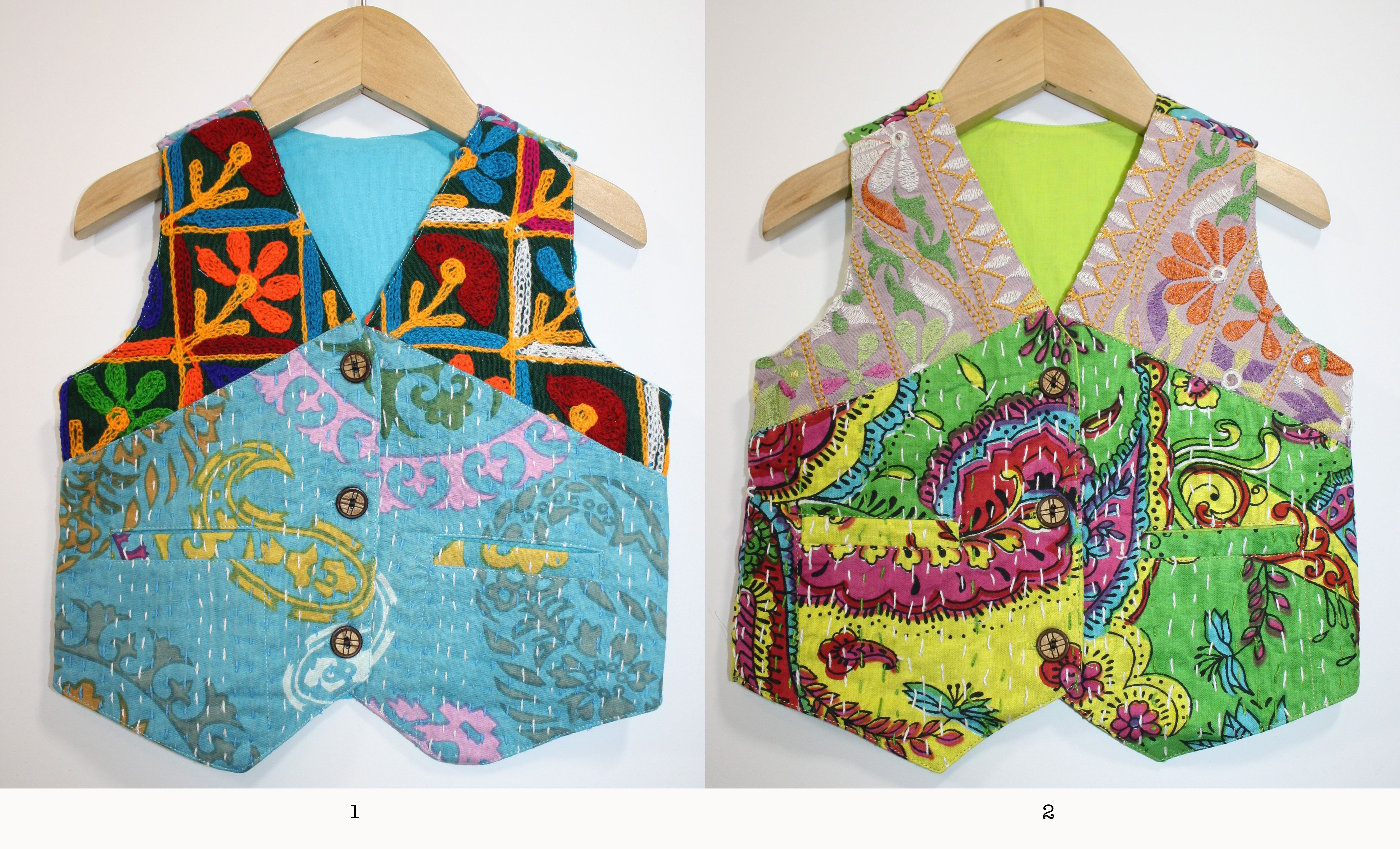 Kantha Vest 8 Months / LITTLEMOONCLOTBohemian Boys clothing, baby