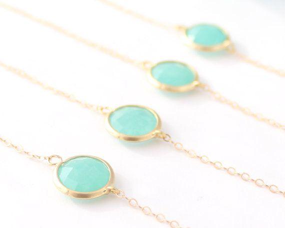 Gold Bridesmaid Jewelry - Mint Green Bridesmaid Bracelet - Green Jewelry - Mint Bracelets Delicate Bracelet Mint Green Bridesmaid Gift