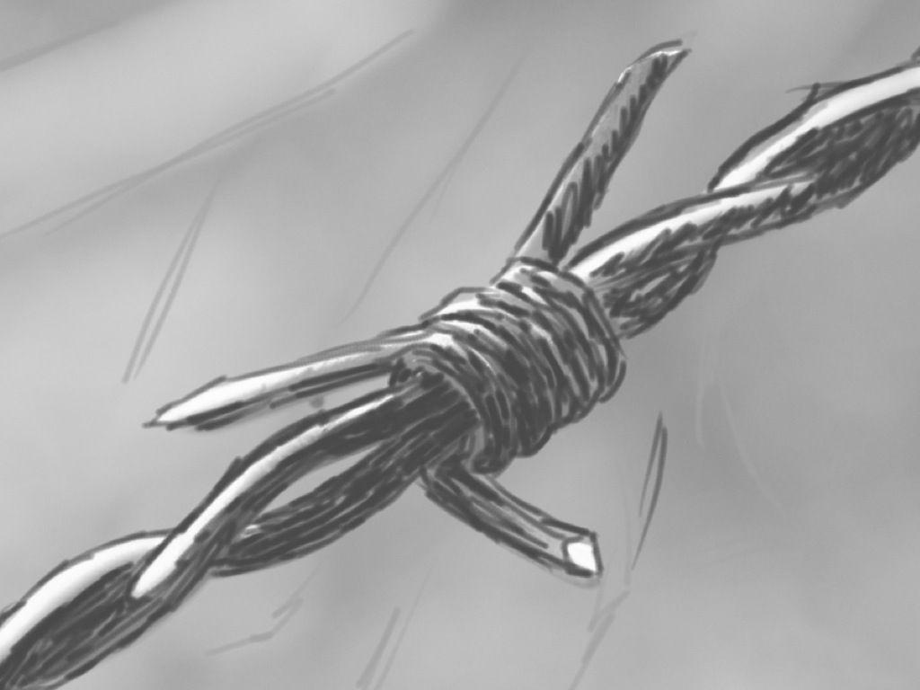 Ungewöhnlich Tribal Barbed Wire Drawings Bilder - Elektrische ...
