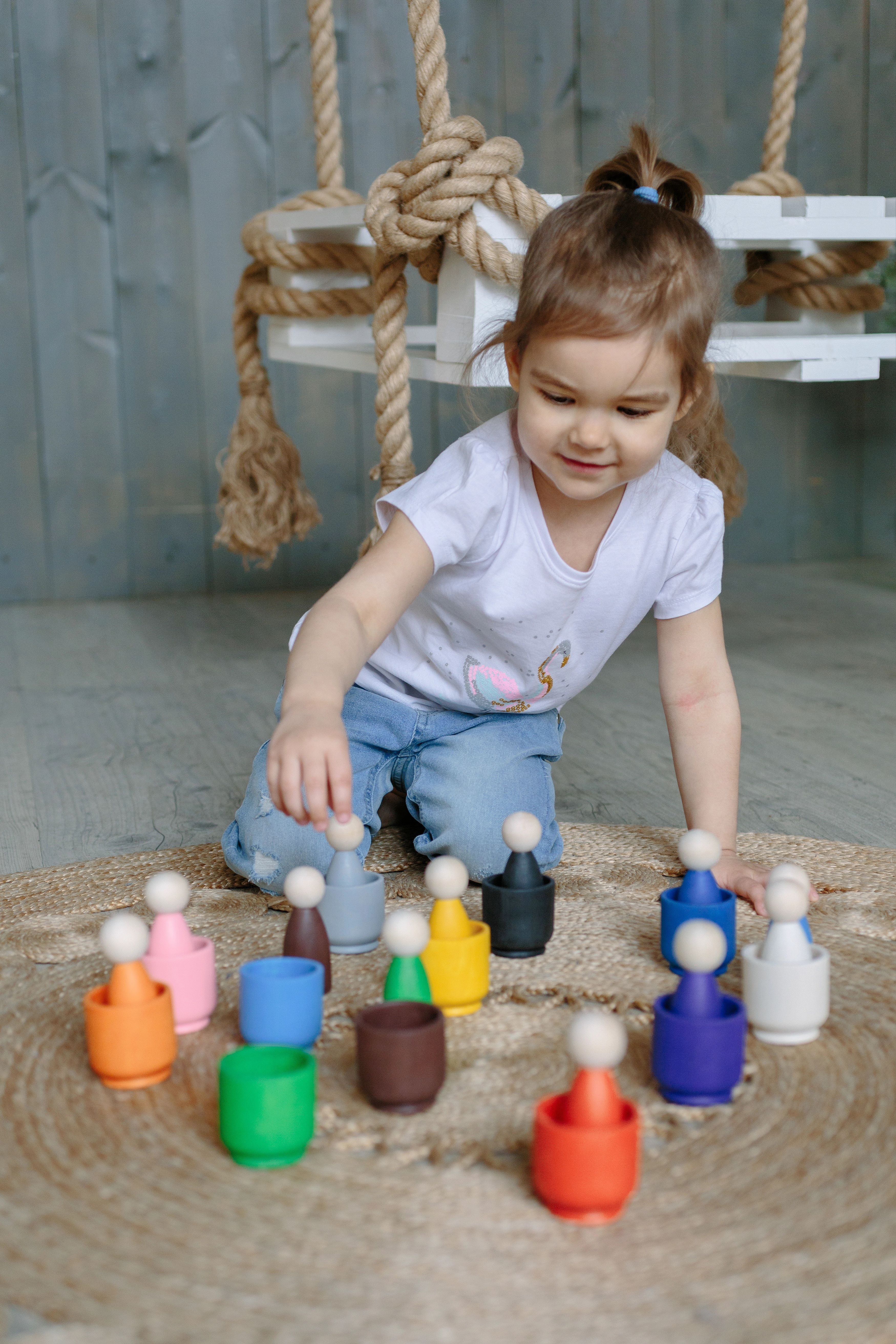 Colored Dolls Playset   Toys for toddlers   Waldorf and ...