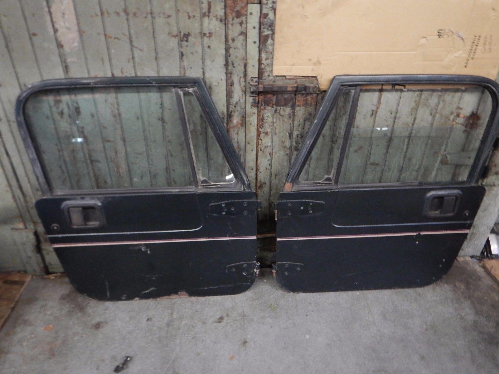 Jeep Wrangler Yj Cj 76 95 Full Hard Doors Door Set Grey W Stripe Free Ship Jeep Wrangler Yj Jeep Yj Jeep