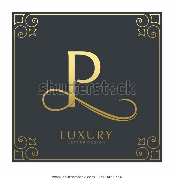Luxury Letter P Logo Template Gold Stock Vector Royalty Free 1508451734 Gold Stock Logo Templates Lettering