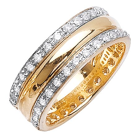 14k 2 Tone Gold Diamond Wedding Band Ring My Wedding Pinterest
