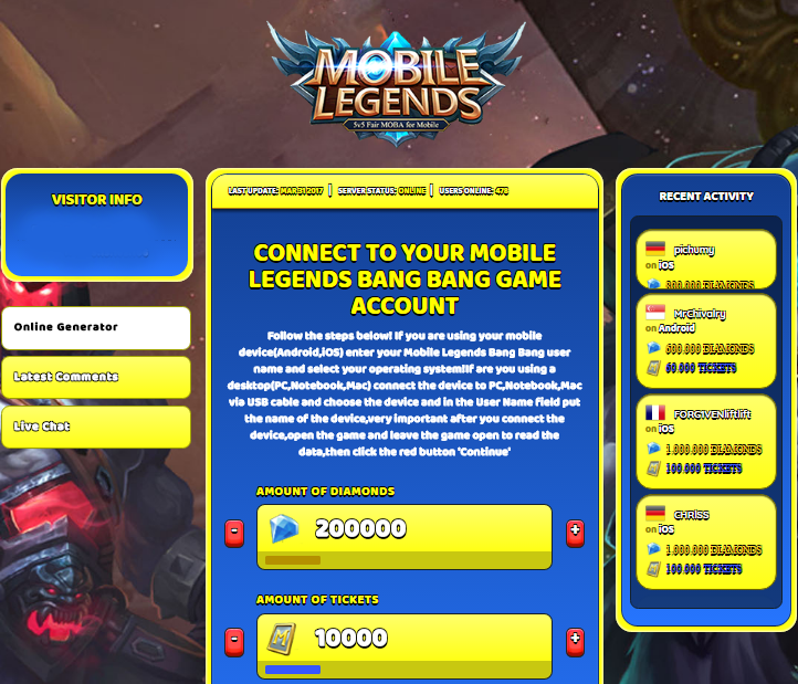 Mobile Legend Code 2020 May