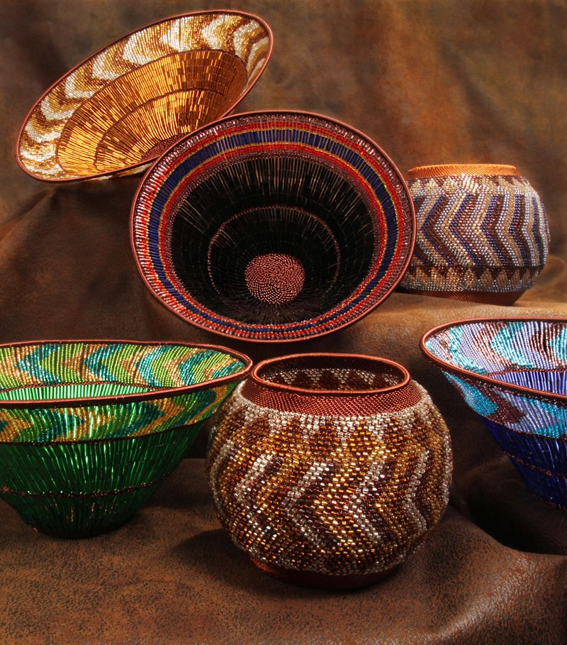 small handmade decorative beaded copper zulu basket.htm so sparkly   these are very special baskets that would make very  these are very special baskets that