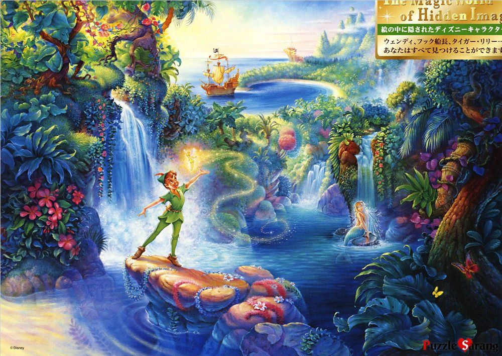 """Jigsaw Puzzles 500 Pieces """"Peter Pan's Magical Forest"""