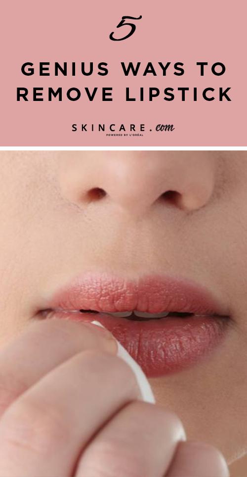 5 Genius Ways to Remove Lipstick   Removing lipstick ...