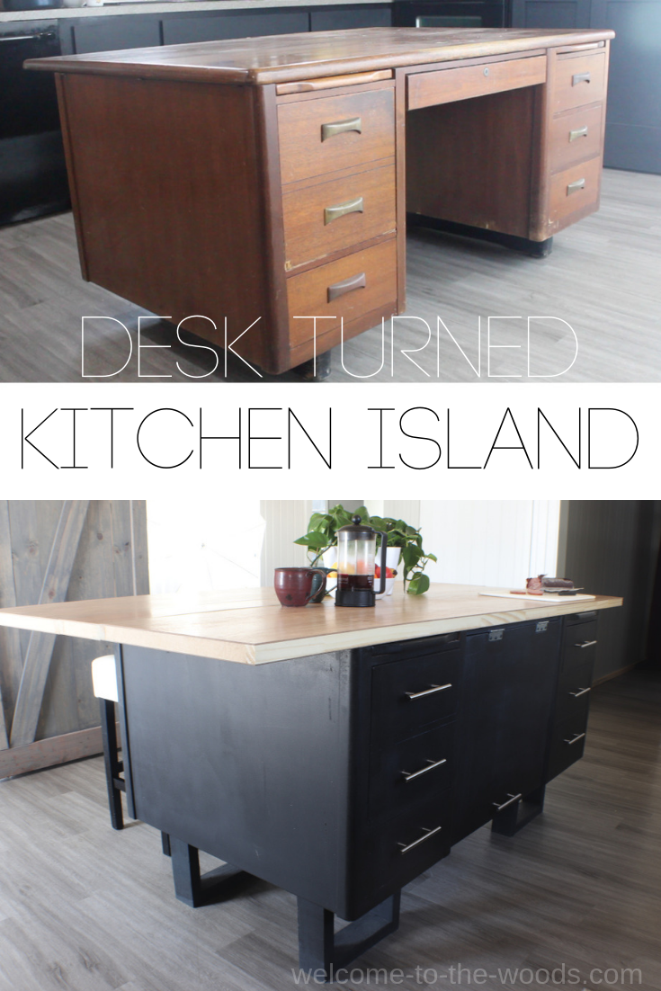 Diy Kitchen Island From A Lawyer S Desk Diy Kitchen Island