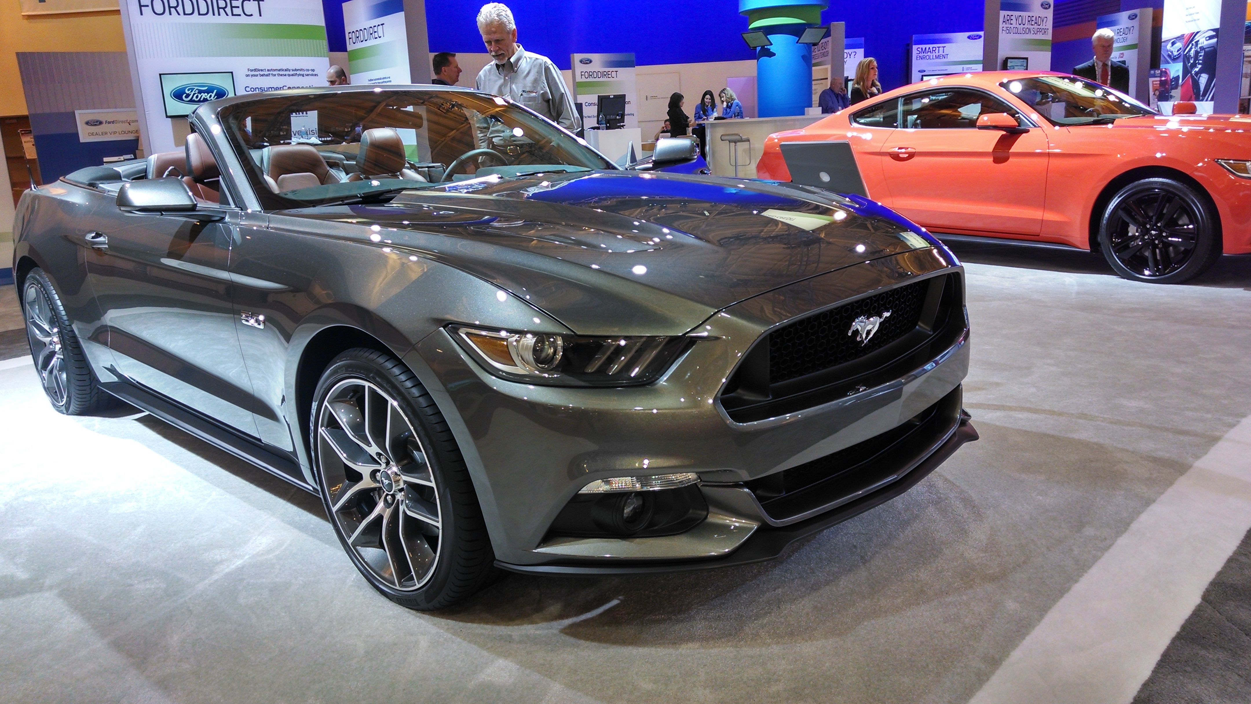 New 2015 ford mustang convertible at nada convention