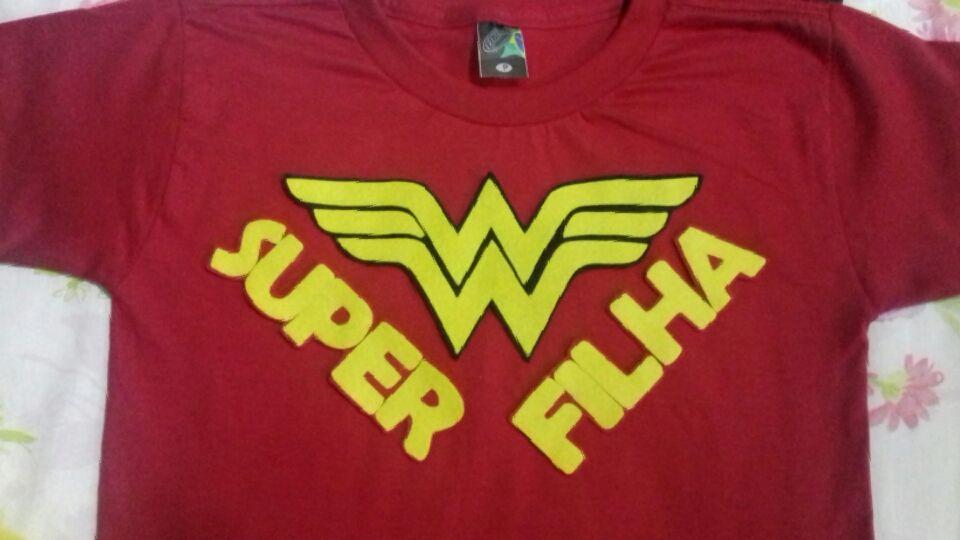 Camisa personalizada camisas personalizadas camisa personalizada em feltro  camisa superfilha camisa superfilha camisa mulher maravilha camisa f9c3e7e703d