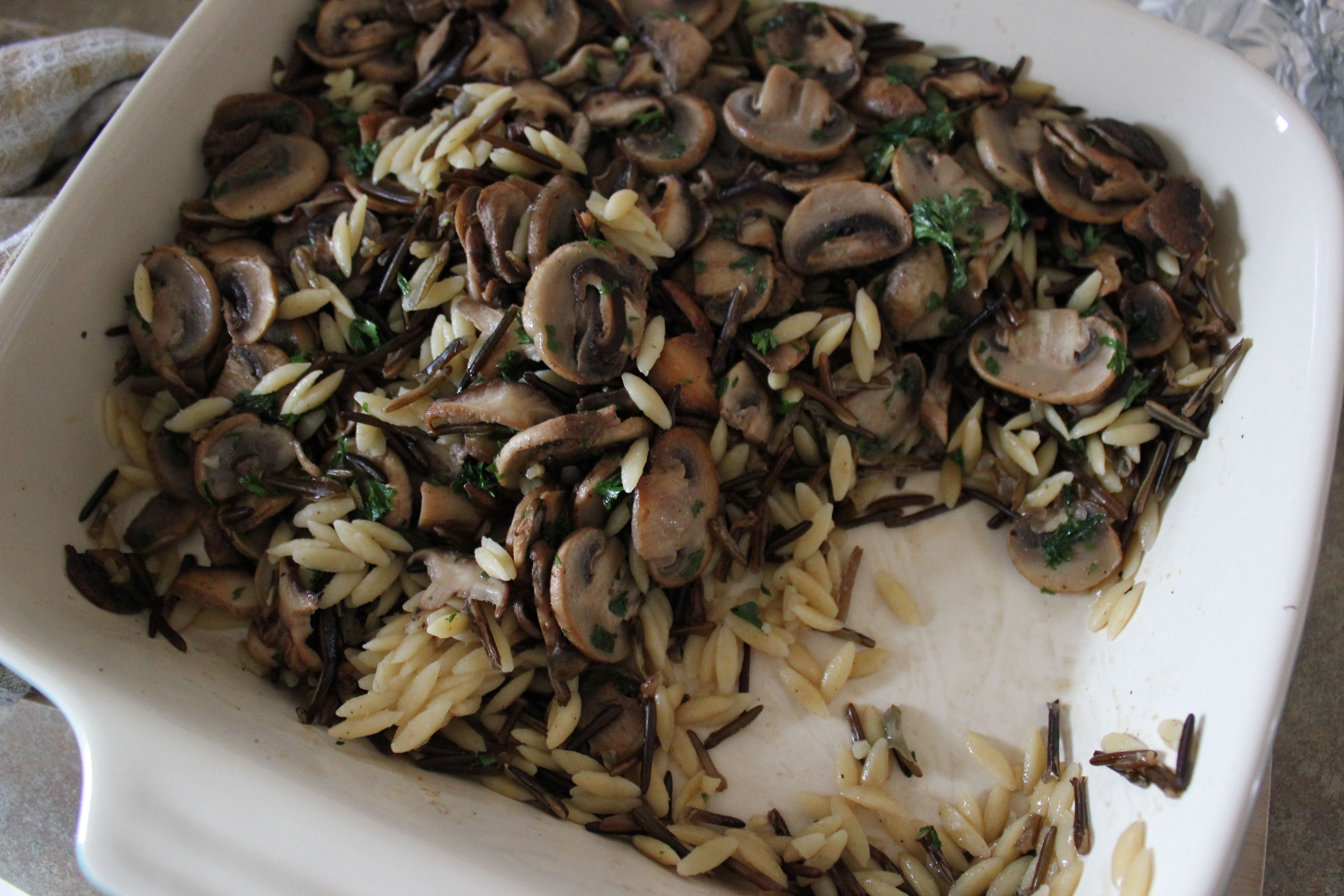 Orzo, Wild Rice & Mushroom Casserole